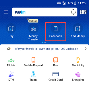 transfer money - paytm wallet to Bank account