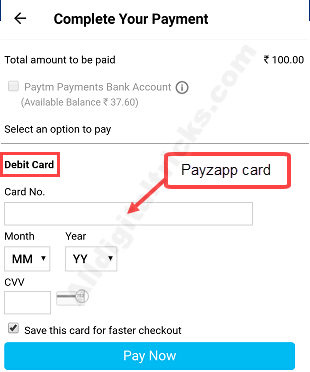 Payzapp to paytm transfer money