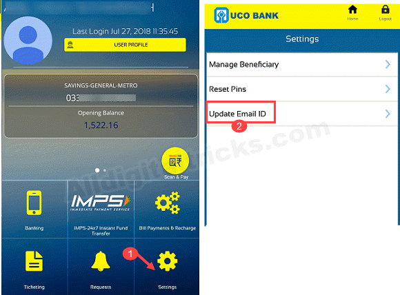 UCO Bank Account PDF statement