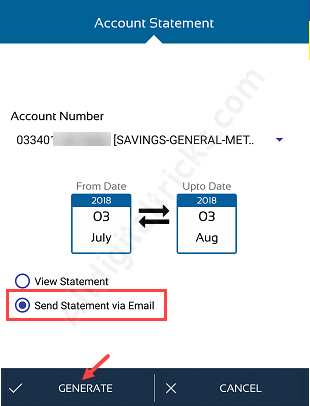 UCO Bank PDF Account statement