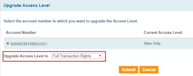 SBI net banking full transactions rights