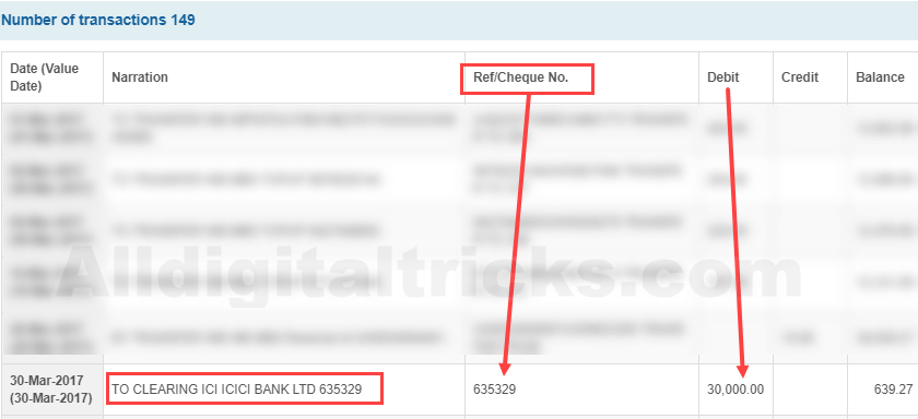 Check SBI Issued Cheque status online