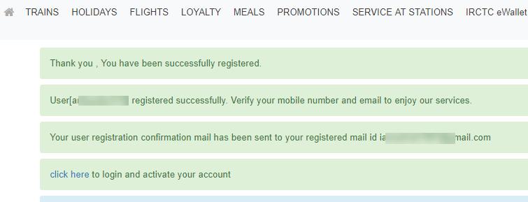register create IRCTC account