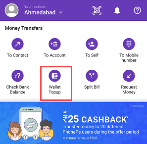 transfer money Mobikwik to Phonepe