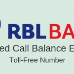 RBL Balance check missed call number