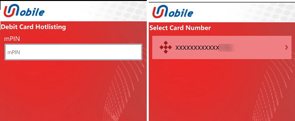 Block Debit card Union bank of India