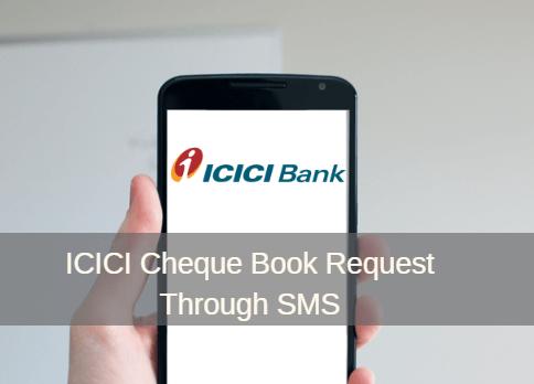 ICICI Cheque Book Request SMS