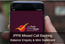IPPB missed call balance enquiry number