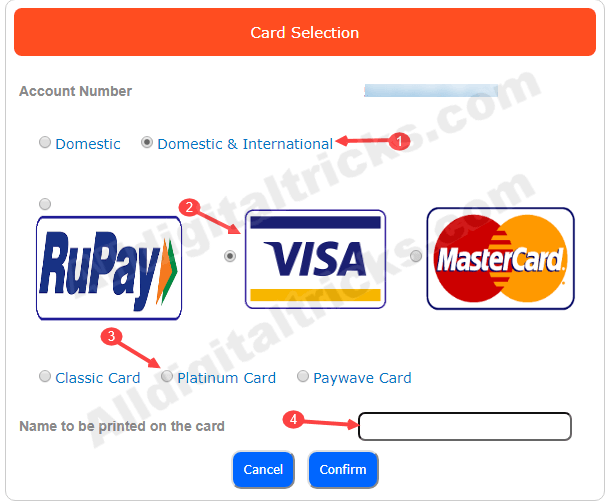 union bank of india apply online debit card