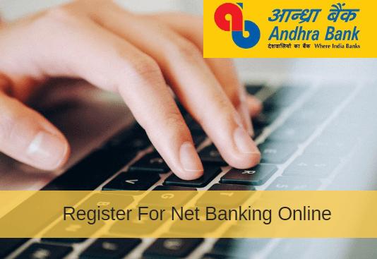 Andhra Bank net banking register online