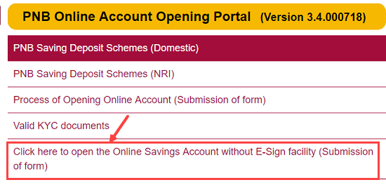 pnb account opening online