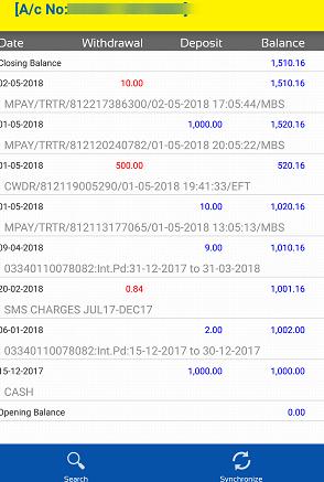 UCO Bank mPassbook online