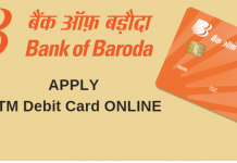 Bank of Baroda ATM Debit card apply online