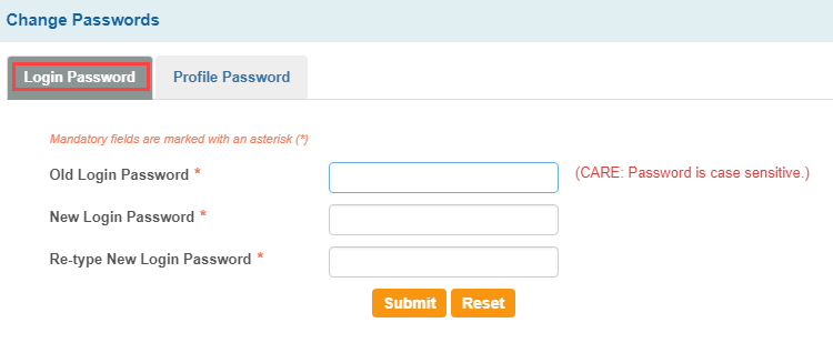 Change SBI login password