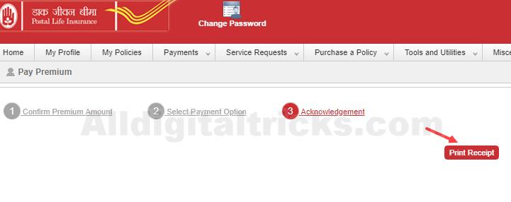 Pay PLI premium payment online