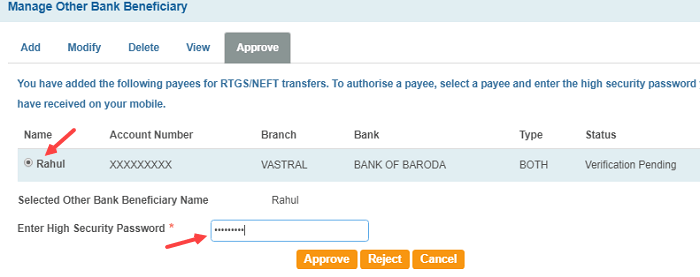 SBI Net banking other Bank money transfer