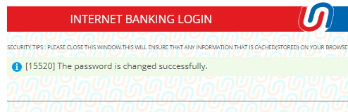 reset login password union Bank of India net banking