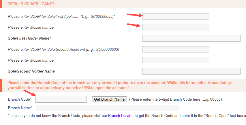 SBI apply Small and basic saving account