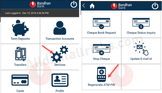 Bandhan Bank ATM PIN Generation Online