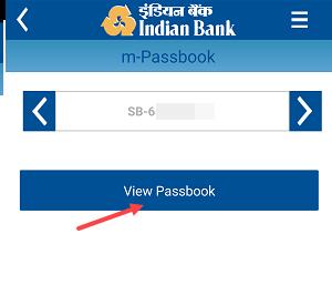 Indian Bank Passbook