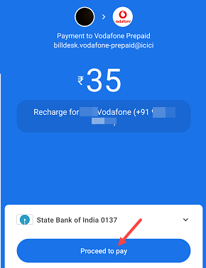 Mobile recharge Gpay