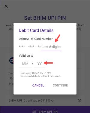 Set upi pin PhonePe