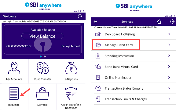 enable disable online eCommerce transaction SBI