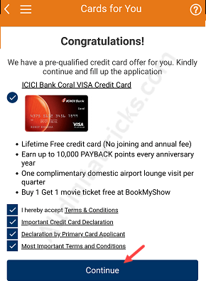 Apply ICICI Lifetime Free Credit card Online