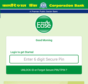 Corporation Bank Mobile banking