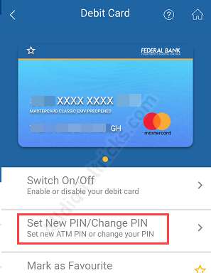 How To Change/Generate Federal Bank ATM PIN Online