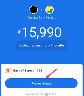 Here you can see Flipkart Request for payment. Tap and open.