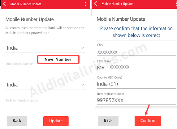 Register New Mobile Number Online in Kotak Bank