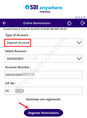 SBI Fixed Deposit - Add Nominee for SBI FD account Online