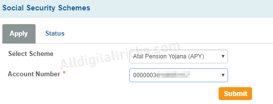 APPLY SBI APY (Atal pension Yojana) Online