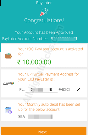 PayLater on ICICI Pockets