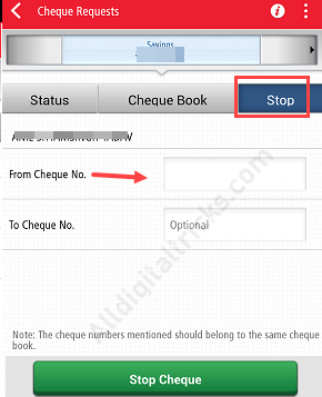 Kotak Bank - How To Stop Cheque Payment online