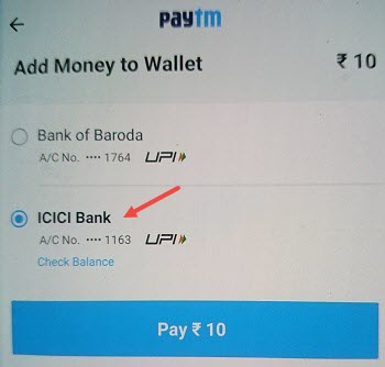 Add Money From ICICI Pay Later To Paytm