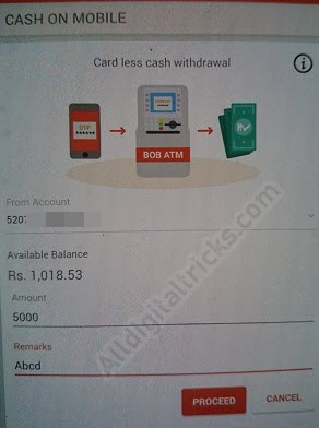 Bank of Baroda - How To Withdraw Cash Without ATM Card