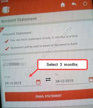 Bank of baroda 3 month statement