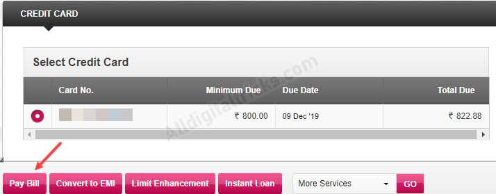 Pay Axis Bank Credit Card Bill Online