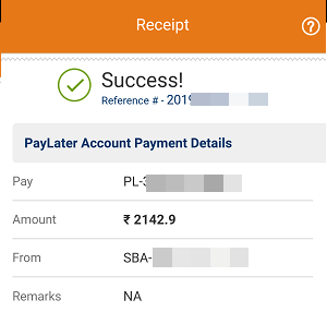Pay ICICI PayLater Dues