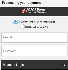 Pay Online Using ICICI Pay Later