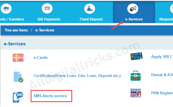 How To Register for SMS Alert Service in SBI Account Online
