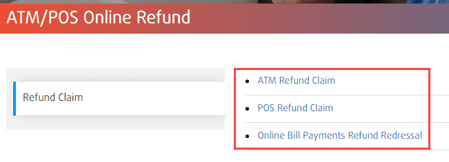 Bank of India refund claim transaction failed online complaint