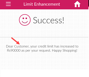 Axis Credit card limit increase