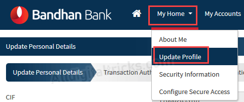 Bandhan Bank Email ID update change