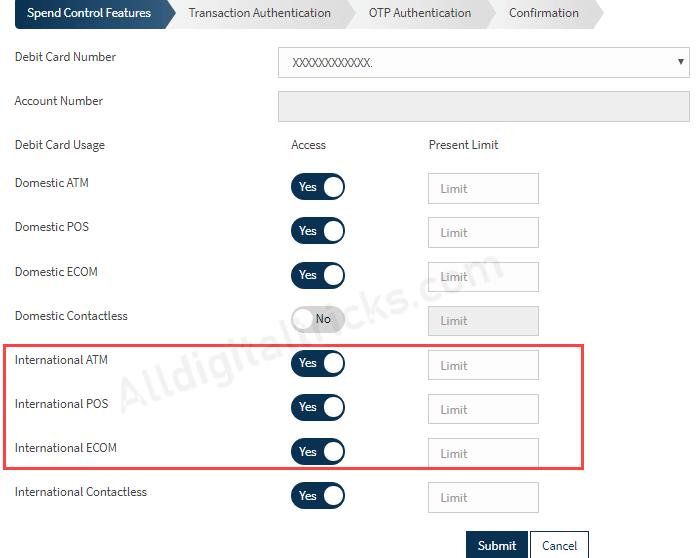 Activate Bandhan Bank Debit Card for International Transactions