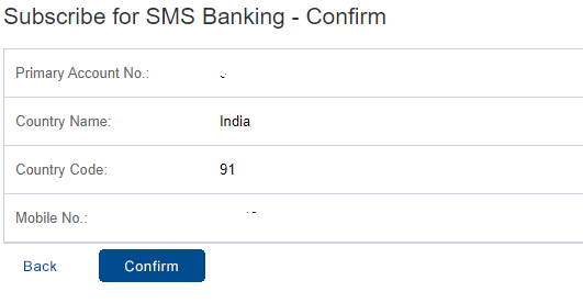 hdfc sms banking