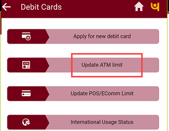 PNB ATM withdrawal limit change