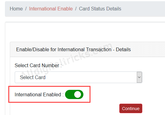 Enable International Usage for South Indian Bank Debit Card